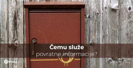 Čemu služe povratne informacije?